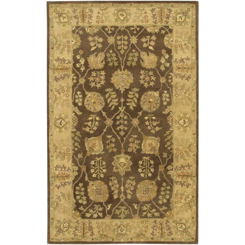 Adonia Brown/Gold/Green 5 ft. x 7 ft. 6 in. Indoor Area