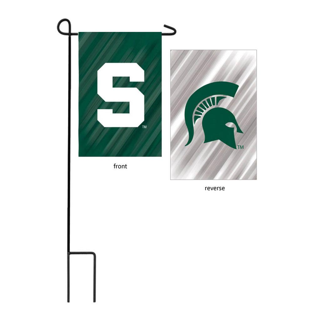 NCAA 18 in. x 12.5 in. Michigan State University Suede Garden
