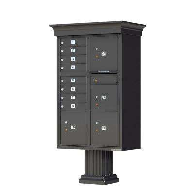 1570 Series 8-Mailboxes, 1-Outgoing, 4-Parcel Lockers, Vital Cluster Box Unit with Vogue Classic Accessories