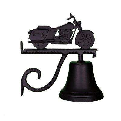 Cast Bell with Black Motorcycle Ornament