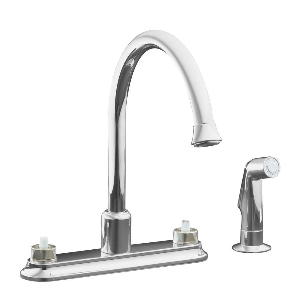 Cais 2 Handle Standard Kitchen Faucet In Polished Chrome