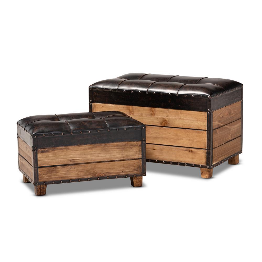 Marvelous Baxton Studio Marelli Dark Brown And Golden Oak Storage Ncnpc Chair Design For Home Ncnpcorg