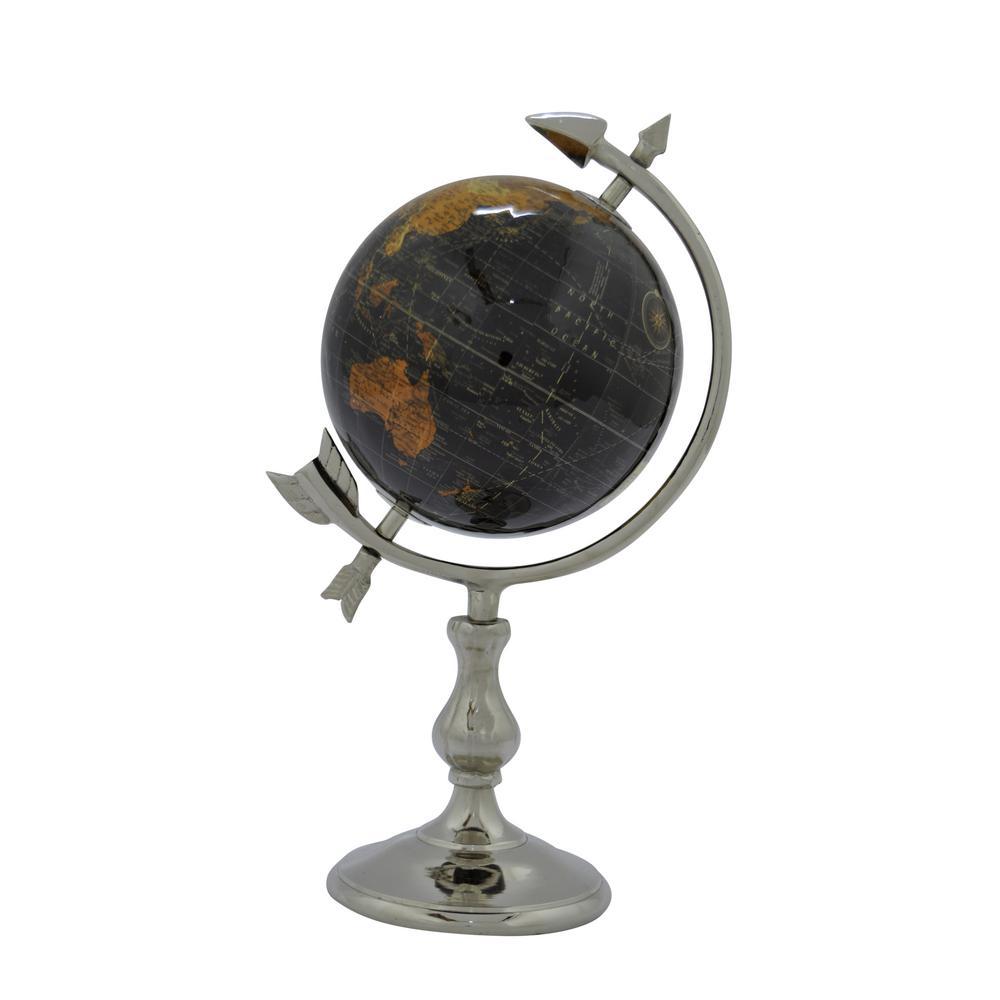 6 in. W Black Globe