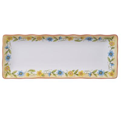 Torino Multi-Colored 13.75 in. Earthenware Bread Tray