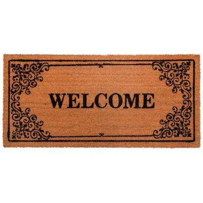 Nicole Miller Patio Fremont Welcome 22 in. x 47 in. Door Mat