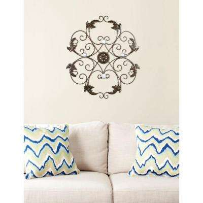 32.3 in. Pillar Wall Decor in Brown