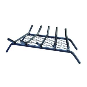 steel bar fireplace grate with ember retainer