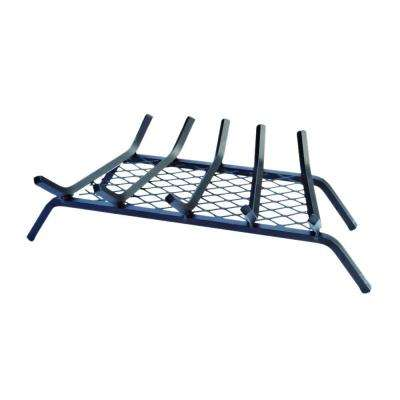 23 in. Steel Bar Fireplace Grate with Ember Retainer