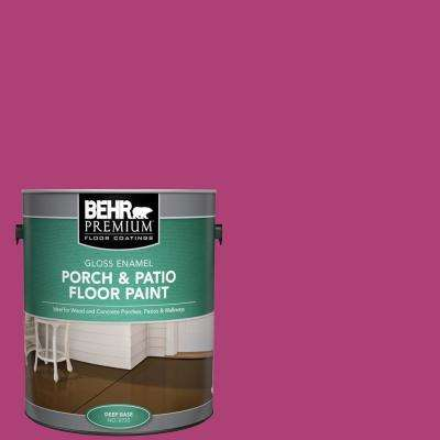 1 gal. #100B-7 Hot Pink Gloss Enamel Interior/Exterior Porch and Patio Floor Paint