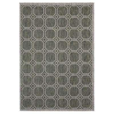 Augusta Balos Green 7 ft. 10 in. x 10 ft. 6 in. Indoor/Outdoor Area Rug