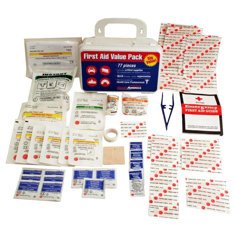 Ready America 77-Piece First Aid Kit