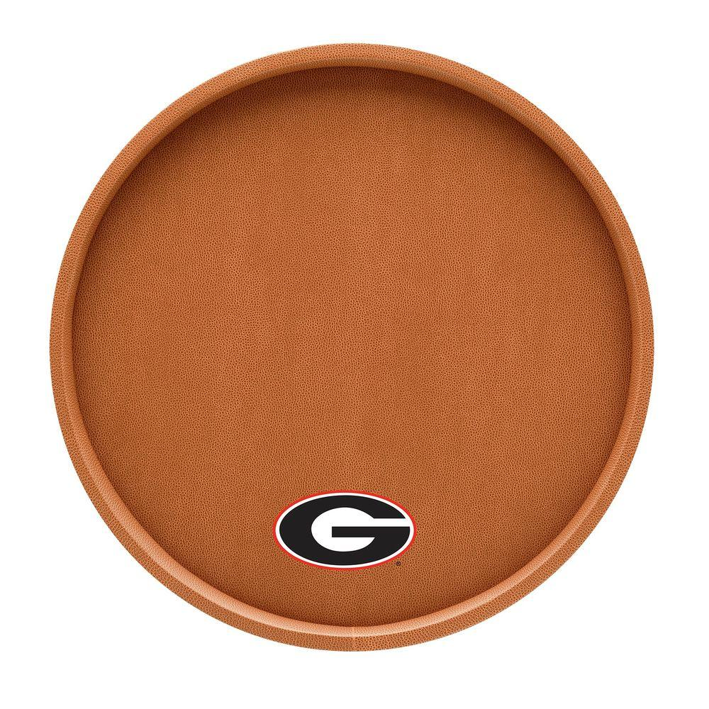 Kraftware Georgia 14 in. Basketball Texture Deluxe Round Serving Tray