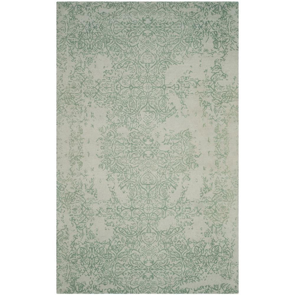safavieh restoration vintage gray turquoise 5 ft x 8 ft area rug rvt105c 5 the home depot. Black Bedroom Furniture Sets. Home Design Ideas