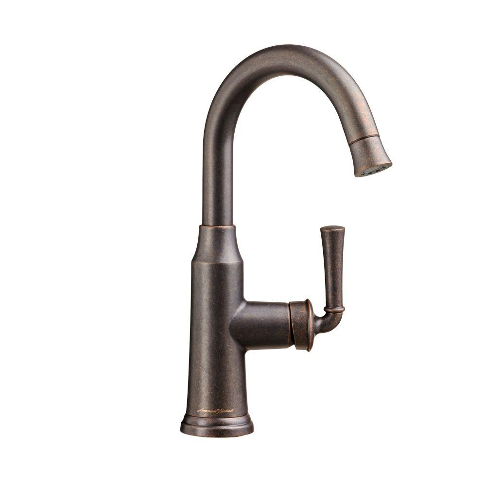 Portsmouth Single-Handle Pull-Down Bar Faucet in Oil Rubbed Bronze
