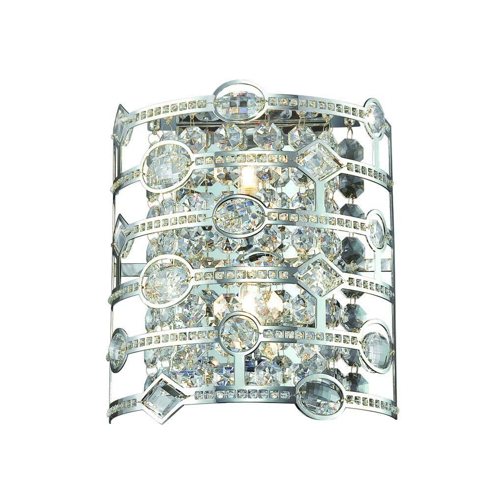 Eurofase Mica Collection 2-Light Chrome Wall Sconce