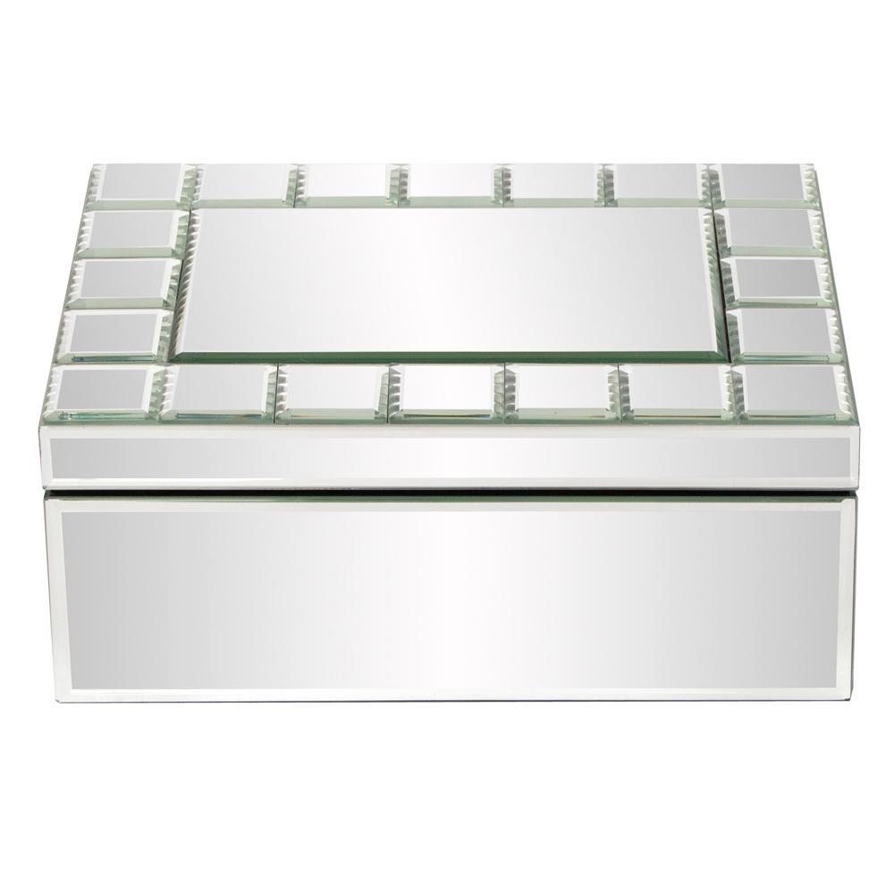 mirrored rectangular jewelry box 99088 the home depot