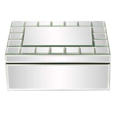 Mirrored Rectangular Jewelry Box