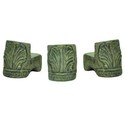 3 1/2 in. x 2 1/2 in. Pot Feet in Granite Finish (Set of 3)