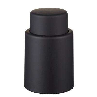 Vacustopper Black Rubberized Wine Stopper Pump