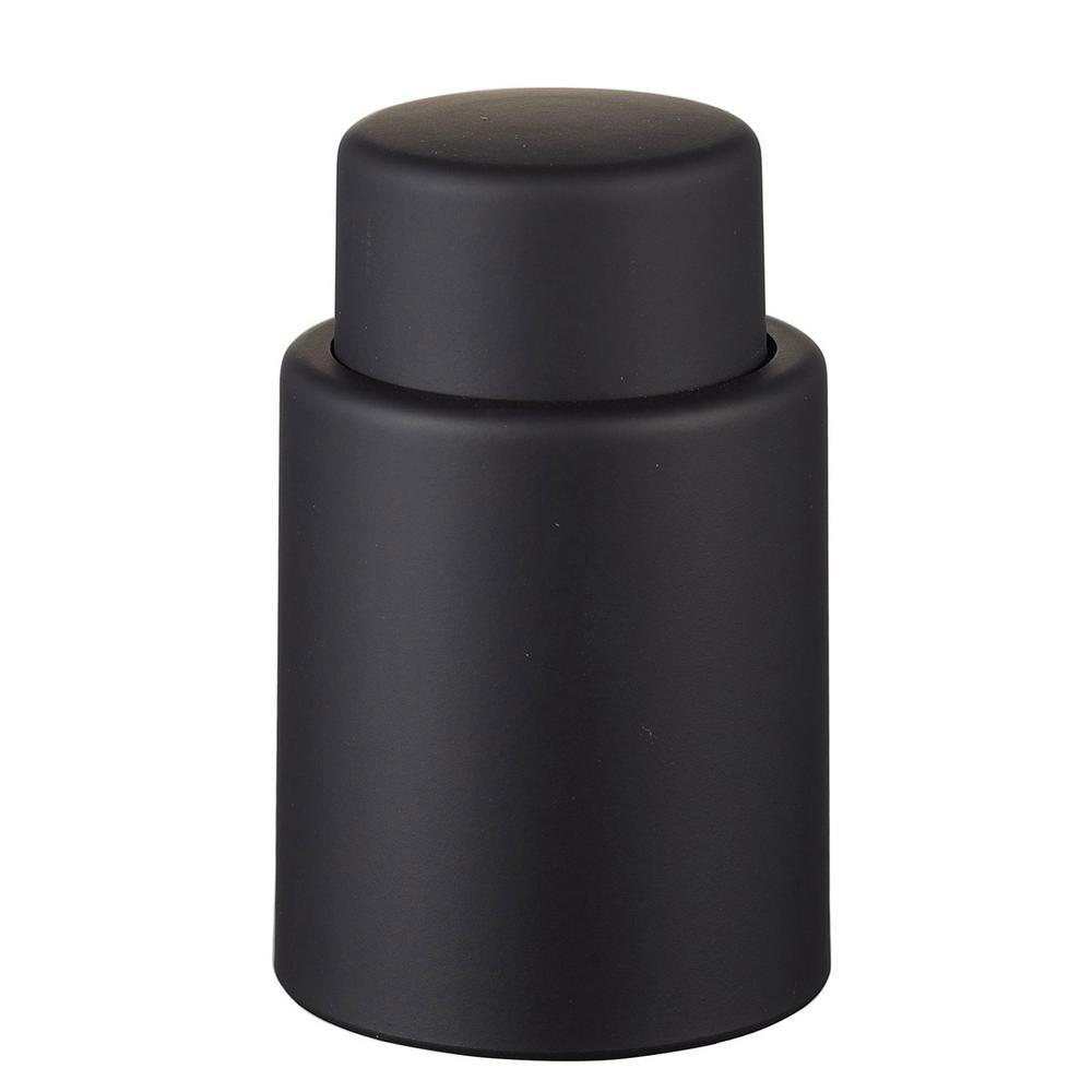 Vacustopper Black Rubberized Wine Stopper Pump