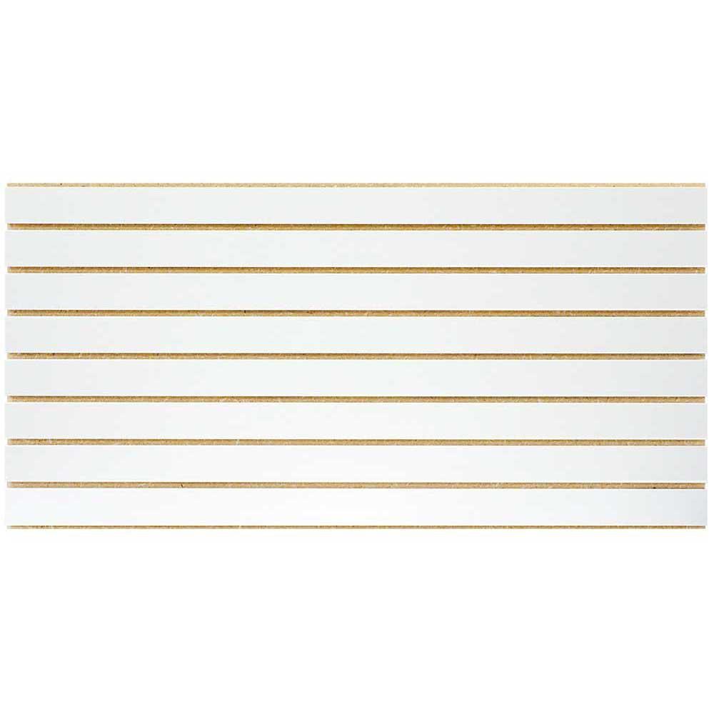 GarageEscape 2 ft. x 4 ft. White Slatwall Easy Panel (2-Piece per Box)