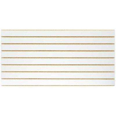 2 ft. x 4 ft. White Slatwall Easy Panel (2-Piece per Box)