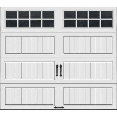 Gallery Collection 8 ft. x 7 ft. 18.4 R-Value Intellicore Insulated White Garage Door with SQ24 Window