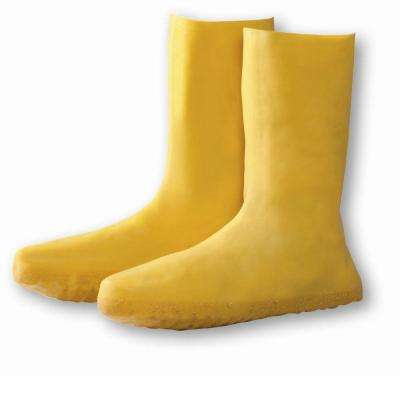 Size Medium Yellow Latex Nuke Boot