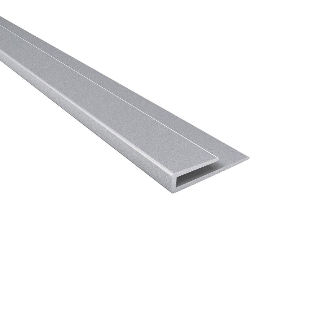 Fasade 4 ft. Large Profile J-Trim in Argent Silver