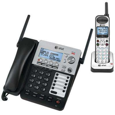SynJ 4-Line DECT 6.0 Corded/Cordless Small Business System