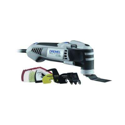 Multi-Max 4 Amp Variable Speed Corded Oscillating Multi-Tool Kit with 28 Accessories and Carrying Bag