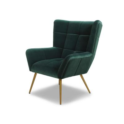 Gerald Mid-Century Modern Forest Green Tufted Wingback Armchair