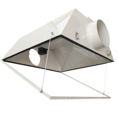 Double Ended Large Air Cooled with 6 in. Duct and Glass Panel Grow Light Reflector for up to 1000-Watt