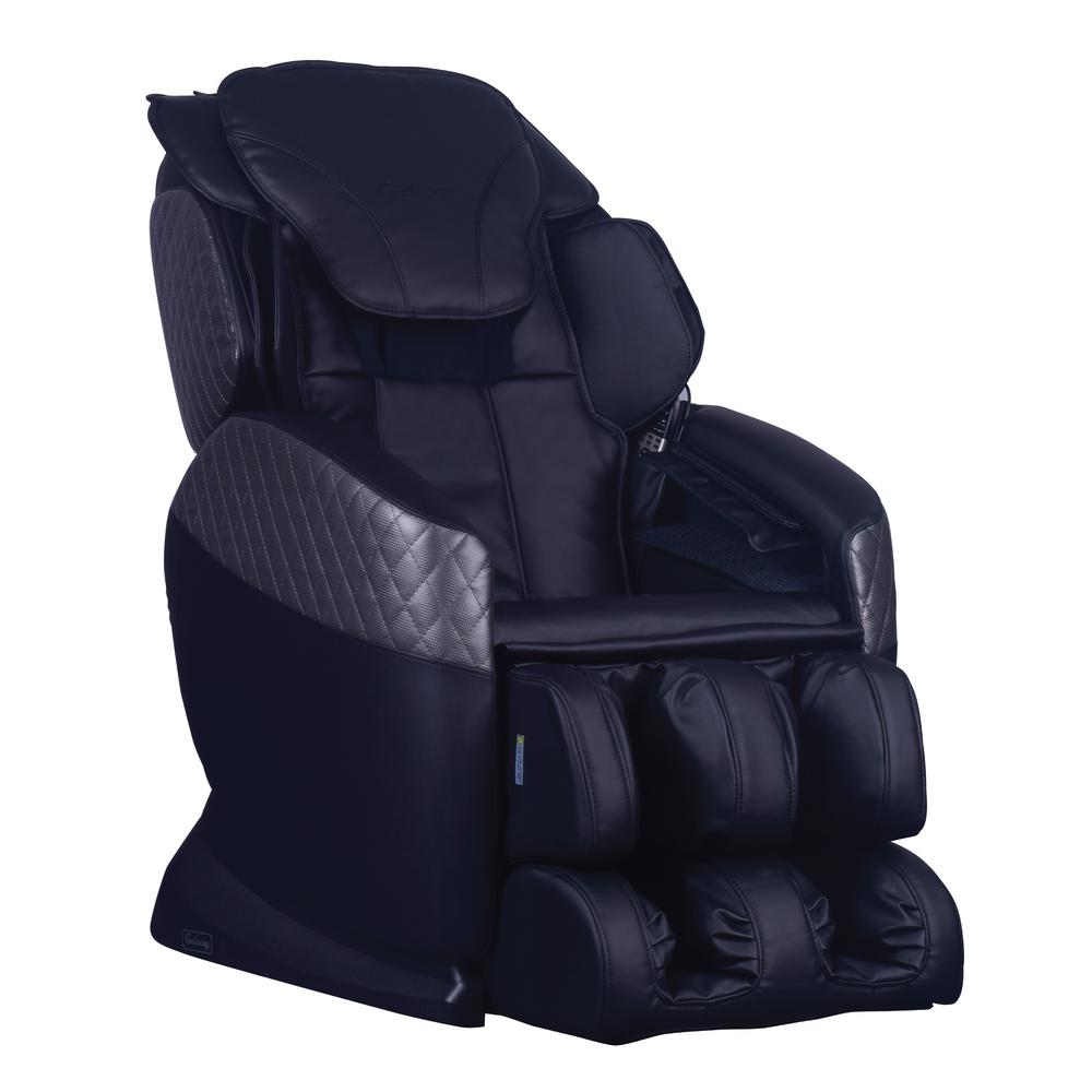 Galaxy Series Black Faux Leather Reclining Massage Chair with 6-Programmable