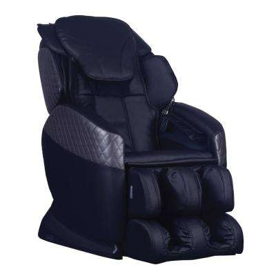 Galaxy Series Black Faux Leather Reclining Massage Chair with 6-Programmable Options and Built-in Foot Massager