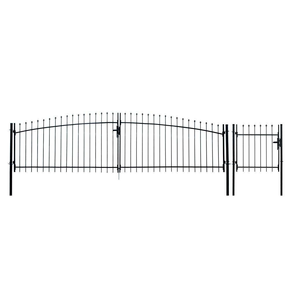 Athens Style 13 ft. x 5 ft. Black Steel DIY Dual