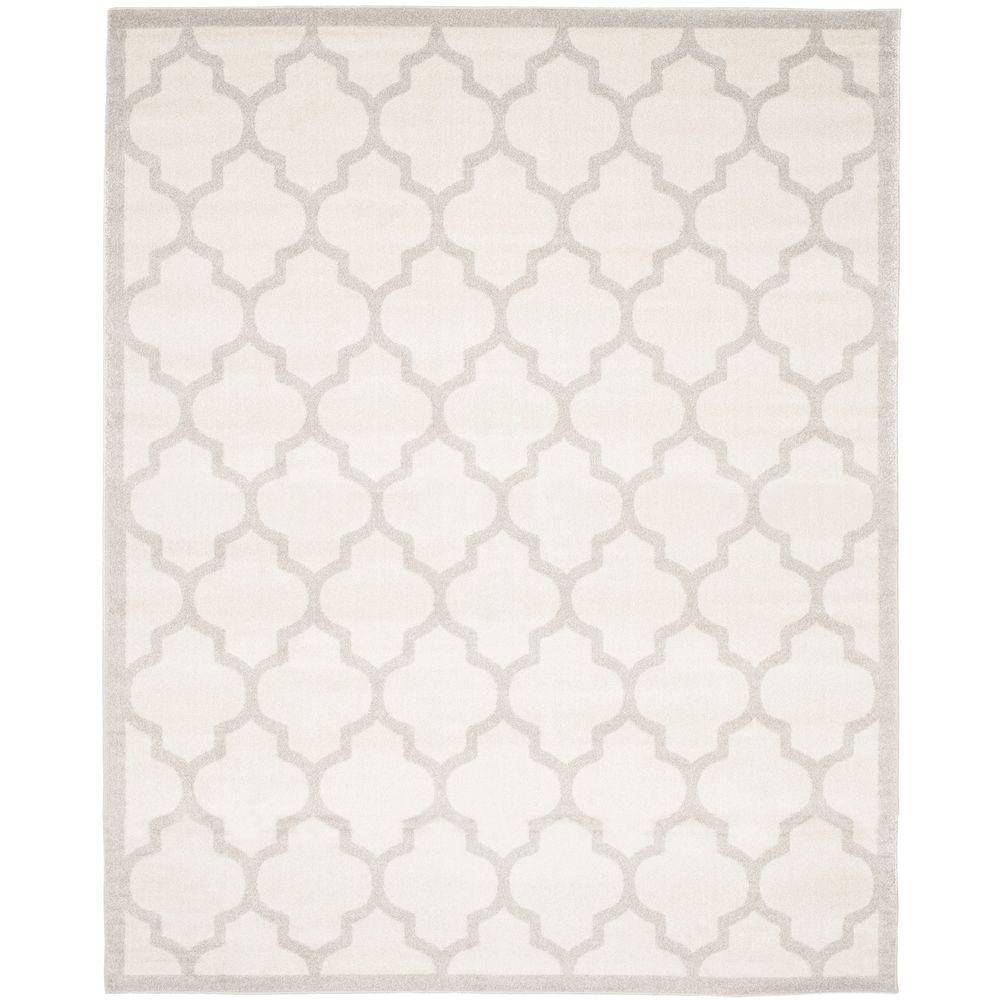 Safavieh Amherst Beige Light Gray 9 Ft X 12 Indoor Outdoor