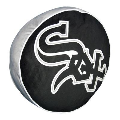 15 in. White Sox Multi Color Polyester Cloud Standard Pillow