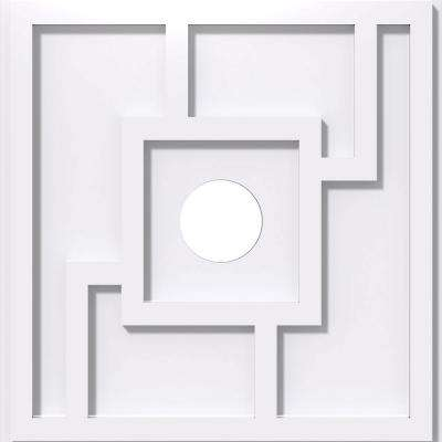 22 in. OD x 4 in. ID x 1 in. P Knox Architectural Grade PVC Contemporary Ceiling Medallion