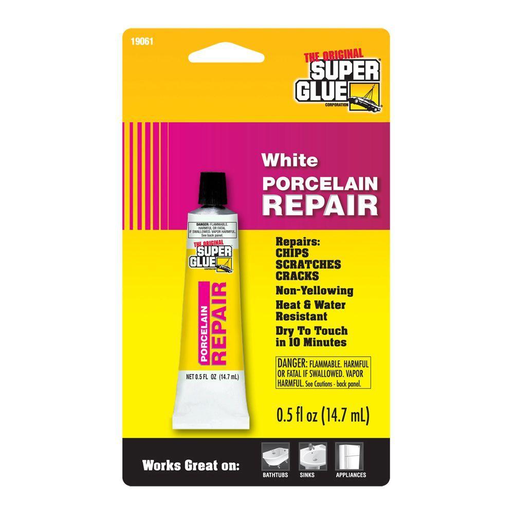 Super Glue 0.5 fl. oz. White Porcelain Repair (12-Pack) by Super Glue