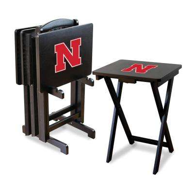 University of Nebraska TV Trays with Stand