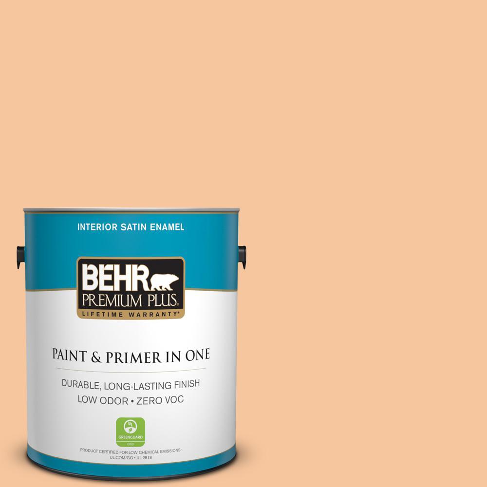 BEHR Premium Plus 1-gal. #M230-4 Cactus Blooms Satin Enamel Interior Paint