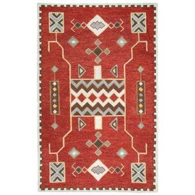 Mesa Red Multicolor 8 ft. x 11 ft. Rectangle Area Rug