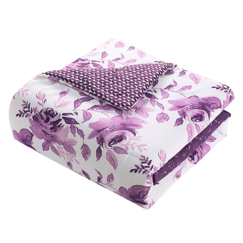 Surrey 7-Piece Purple Queen Comforter Set