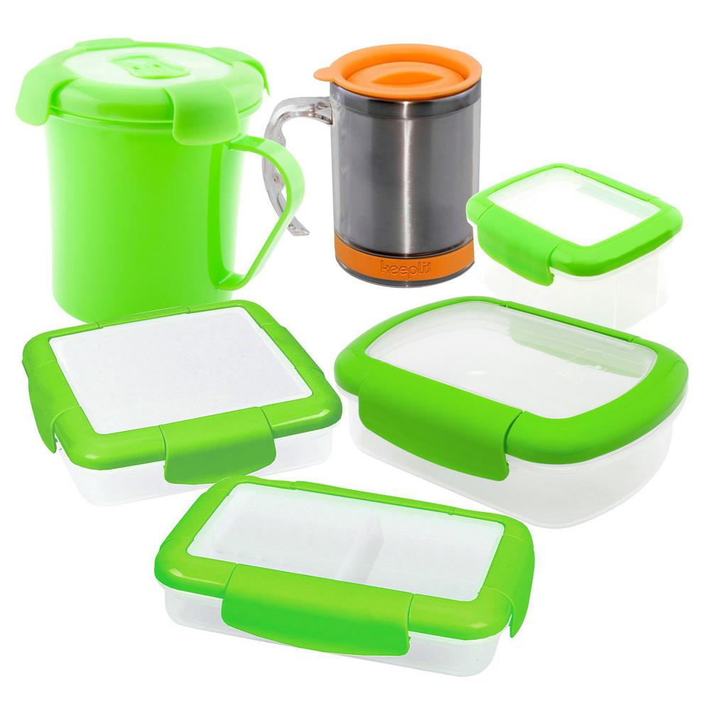 6-Piece Food Storage Container Assorted Pack in Green  sc 1 st  The Home Depot : green storage containers  - Aquiesqueretaro.Com