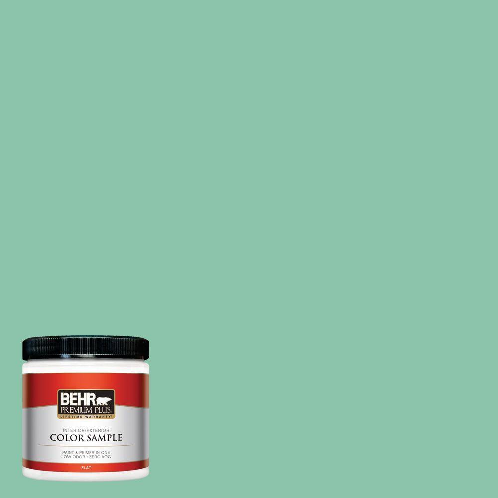 BEHR Premium Plus Home Decorators Collection 8-oz. #HDC-WR14-8 Spearmint Frosting Interior/Exterior Paint Sample