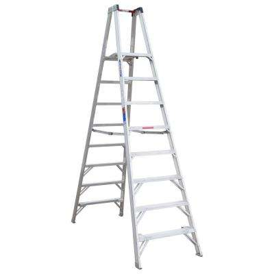 8 ft. Aluminum Platform Step Ladder with 300 lb. Load Capacity Type IA Duty Rating