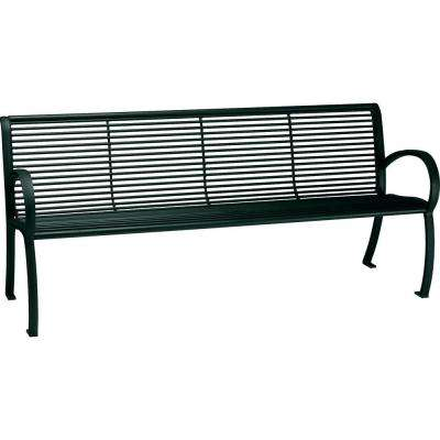 Tranquil 6 ft. Contract Patio Bench with Back in Hunter