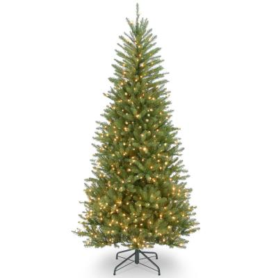 Dunhill Fir Slim Artificial Christmas Tree with Clear Lights