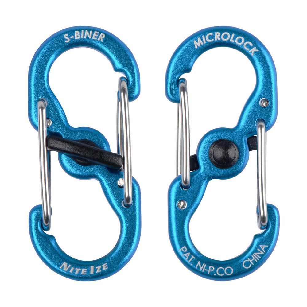 S-Biner TagLock Aluminum in Blue (2-Pack)